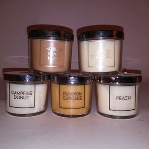 Set of 5 Bath & Body Works Candles